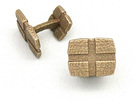 CheckeredCufflinks in Stainless Steel