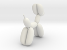 Balloon Dog in White Strong & Flexible