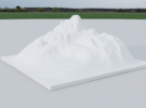 Mountain Landscape 1 in White Strong & Flexible