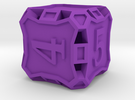 Large Die6 - Custom in Purple Strong & Flexible Polished