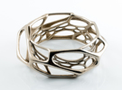 Exo Bangle sz M in Stainless Steel