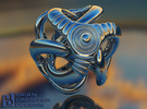 Trilio - Ripples - 20mm in Stainless Steel