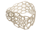 Wave Bracelet in White Strong & Flexible Polished