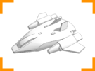 'Phoenix' Assault Fighter 6mm in White Strong & Flexible