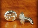 Eye of Horus cufflinks in Polished Silver