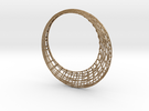 Elliptic mesh Bracelet in Matte Gold Steel