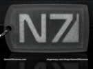 N7 Dog tag (Trapped Wax)  in Frosted Ultra Detail
