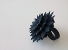 Big Bloom Ring Size 7 in Black Strong & Flexible