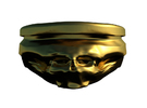 Bullet Scull Ring in Matte Gold Steel