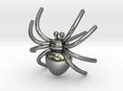 Spider post Earring 3D printing in Premium Silver