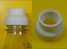DN15 BSP Thread to PET Bottle Top in White Strong & Flexible