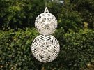 Christmas Ornament - Small Spinning Snowman in White Strong & Flexible