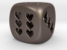 Dice hearts hollow in Stainless Steel