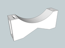 Capacitor Bracket in White Strong & Flexible