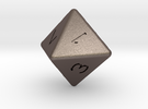 D8 dice in Stainless Steel