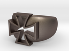 Iron Cross Ring in Stainless Steel