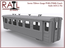 OO9 (1:76) - PV40 - Soviet 750mm Gauge Coach in Frosted Ultra Detail