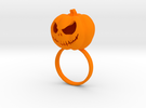 Pumpkin ring - Size 7 in Orange Strong & Flexible Polished