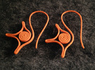 Spiral earrings in Orange Strong & Flexible Polished