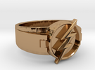 V2 Flash Ring Size 10, 19.80 mm in Polished Brass