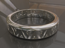 Carpe Diem Ring - Size 9 in Raw Silver