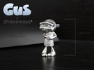Gus Figurine - Small - Precious Metal in Raw Silver