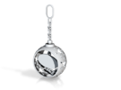 DRAW ornament - chain finial pass thru personalize in White Strong & Flexible