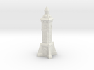 N Gauge Victorian Clock Tower in White Strong & Flexible