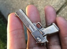 Desert Eagle Keychain in Raw Bronze