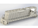 EMD SD24  HO Scale Locomotive in White Strong & Flexible