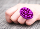 Bunch ring - size 8/18mm in Purple Strong & Flexible Polished