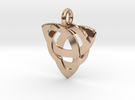 Celtic Knot Necklace Pendant (Inverted Triquetra) in 14k Rose Gold Plated