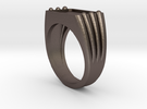 Customizable Ring 02 in Stainless Steel