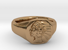 Indian Head Ring in Polished Brass