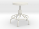 Miniature Sputnick Stool 1:18scale (not full size) in White Strong & Flexible
