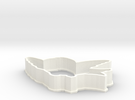 Bird cookie cutter in White Strong & Flexible Polished