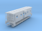 Sou Ry. bay window caboose - Round roof - N scale in Frosted Extreme Detail