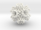 2-Compound of a great retrosnub icosidodecahedron  in White Strong & Flexible Polished