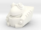 CW Auto-fodder (Deluxe Scale) in White Strong & Flexible Polished