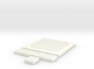 SciFi Tile 23 - Alternate Diamond plate in White Strong & Flexible Polished
