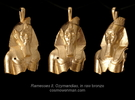 Ramesses II, Ozymandias, pendant in Raw Bronze