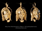 Michelangelo's Pietà, pendant in 18k Gold Plated