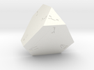 Dreidel D4 in White Strong & Flexible Polished