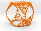 Sierpinski Menger Mix in Orange Strong & Flexible Polished