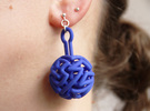 infinite labyrinth pendant in Blue Strong & Flexible Polished