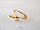 Loop Ring US size5 in Polished Bronze