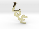 Pendent- Love in 18k Gold Plated