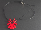 Summer 's here (pendant) in Red Strong & Flexible Polished