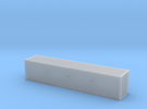 40' Cube ISO Container (N Gauge 1:148) in Frosted Ultra Detail