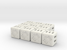 Grey Knights Dice - 10 pack (20mm) in White Strong & Flexible